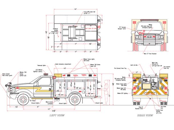 brush truck 3 fire truck engine diagram fire truck schematic